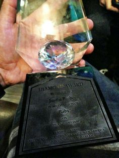 JUSTIN WON A DIAMOND AWARD FOR BABY!!! NOBODY HAS EVER REACHED 12x PLATINUM!!! #Proud #Baby #JustinBieber