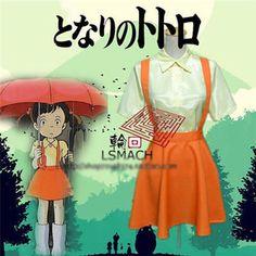New My Neighbor Totoro Satsuki Kusakabe Cosplay Costume Orange Uniform HHA 14 | eBay