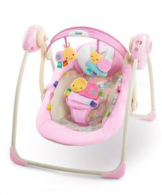 Take a look at this Taggies Cozy Posies Portable Swing by Taggies on #zulily today!