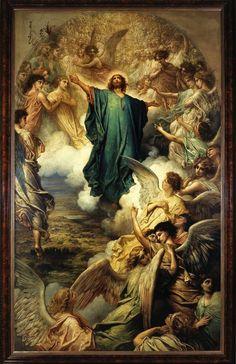 Gustave Doré (1832-1883), L'Ascension, 1879. Huile sur toile, 610 x 420 cm. Petit Palais, Paris