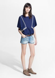 Short denim claro