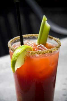BLOODY MARY: 1 1/4oz Vodka. 2 1/2oz tomato juice. Dash of Worcestershire sauce. Dash of Tabasco sauce. Dash of salt & pepper. Pour the Vodka over ice in a glass. Fill with tomato juice. Add a dash or two of Worcestershire and Tabasco. Garnish with celery stalk. Add more Tabasco to taste.