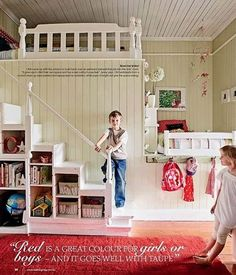 Love this childs room...when we have a house I will have one of these for our nieces!!!