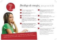 Consejos para evitar el #grooming o #acoso sexual a #menores en #Internet. Más información en www.quenoteladen.es