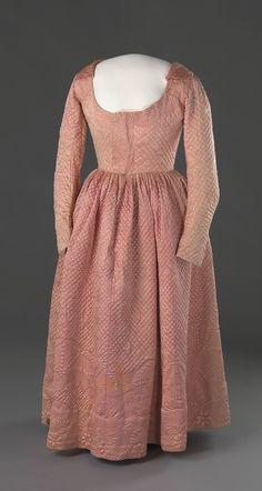 Winter Dress  second half of the 18th century  Nasjonalmuseet for Kunst, Arketektur, og Design