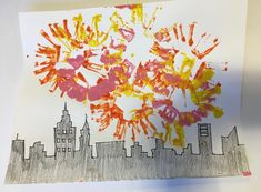 Crafty Thursday: Painting Fireworks Landscape   What a beautiful city landscape brightened up by these colourful fireworks!   We will be doing this eye popping craft the week of July 17th. Come to one of our French Day Camps at any one of 10 locations in the GTA. Join us for sports, crafts, cooperation and much more! #mississauga #oakville #northyork #vaughan #richmondhill #markham #toronto #fun #funinfrench #art #kidscrafts #family   Inspired by…