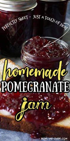 Pomegranate Jelly, Pomegranate Recipes, Jam Recipes, Sweet Recipes, Dessert Recipes, Canning Recipes, Desserts, Easy Homemade Recipes, Jam And Jelly