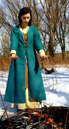 "Viking coat  Note: Interesting that the sleeves are short, it strikes me as a very practical intentional feature in a time with limited ""climate control"" and more outdoor work."