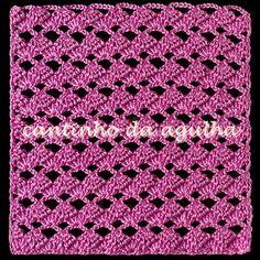 CROCHE COM RECEITAS: Pontos de croche diagrama 4