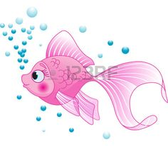 Illustration of Illustration of cute pink fish vector art, clipart and stock vectors. Cartoon Clip, Cartoon Fish, Cartoon Monkey, Fish Drawings, Animal Drawings, Drawing For Kids, Painting For Kids, Children Painting, Pink Fish