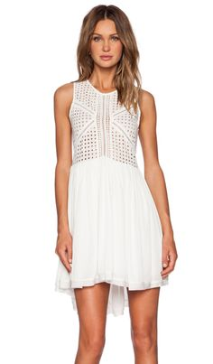 Three of Something Dejavu Dress in White