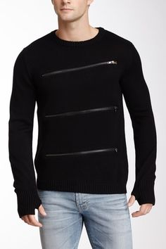 Zipper Front Sergeant Sweater on HauteLook