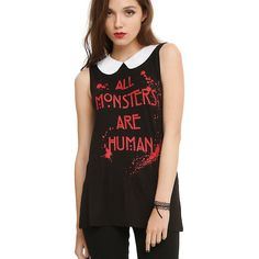 American Horror Story All Monsters Are Human Girls Top Hot Topic ($23) ❤ liked on Polyvore featuring tops
