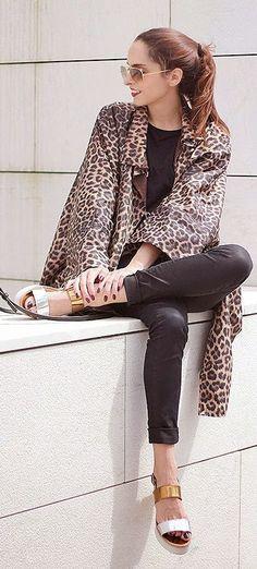 Leopard Coat Chic Style