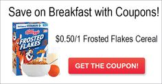Top Coupon of the Day – $0.50/1 Frosted Flakes Cereal