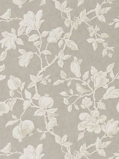 BuySanderson Magnolia and Pomegranate Wallpaper, Silver / Linen DWOW215722 Online at johnlewis.com