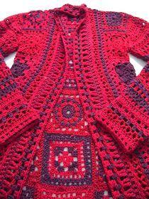 Gilet Crochet, Crochet Coat, Crochet Cardigan Pattern, Crochet Jacket, Crochet Granny, Crochet Shawl, Knit Patterns, Crochet Clothes, Crochet Fashion