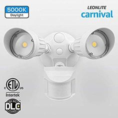 Leonlite 20w Dual Head Motion Activated Led Outdoor Security Light