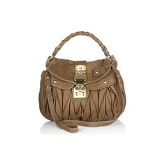 Designer Watches And Handbags ❤ liked on Polyvore featuring bags, handbags, borse, bolsas, prada handbags, prada, brown handbags, brown bag and brown purse