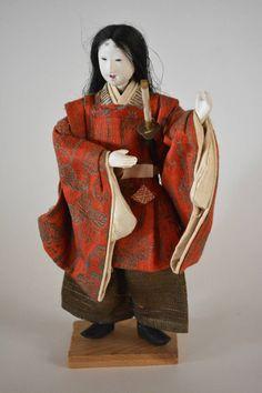 Vintage Japanese folk craft doll, mingei folk craft doll, Noh doll by StyledinJapan on Etsy
