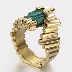 Exceptionnelle Emeraude #Emerald and #Gold #Ring by Ornella Iannuzzi http://www.fldesignerguides.co.uk/engagement-ring-designer/ornellaianuzzi http://amzn.to/2t4PkE7