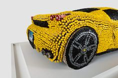 These are shots of a crayon Ferrari ENZO a patron commissioned for the Children's Medical Center in Hartford, CT.