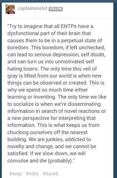 Someone finally put it in words!!!! ENTP