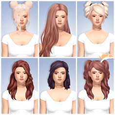 Lana CC Finds - catplnt: Semi-mini CC Dump | Hair Recolors •... (we have the bottom left one already)