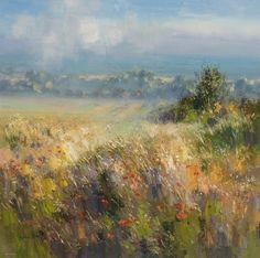 British Artist Rex PRESTON-Sea Mist, Thornham, Norfolk