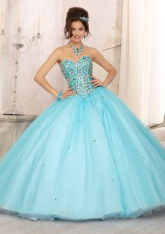 Quinceanera Gowns Style 88093: 88093 Multi-Colored Beaded Bodice on a Two Tone Tulle Skirt http://www.morilee.com/quinceanera/quinceanera_vizcaya/88093