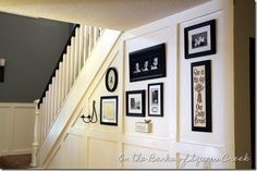 black and white gallery wall - house tour