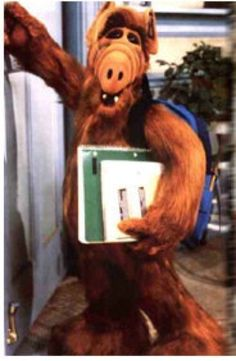 Alf' s first day at school Alien Life Forms, 70s Tv Shows, Childhood Memories, Scooby Doo, Science Fiction, Tv Series, Favorite Things, Birthdays, Ipad