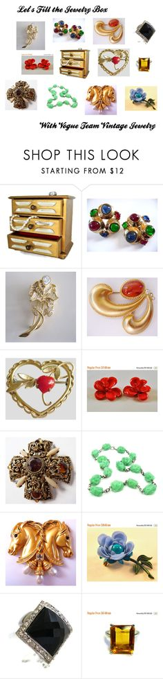 """Let's Fill the Jewelry Box"" by thesnapdragonslair ❤ liked on Polyvore featuring Napier, Krementz and vintage"