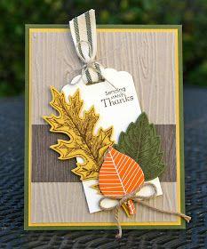Krystal's Cards: Stampin' Up! Vintage Leaves - Hello Meadow