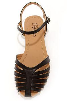 588ae158ca849 Paprika Tandy Black Flat Sandals