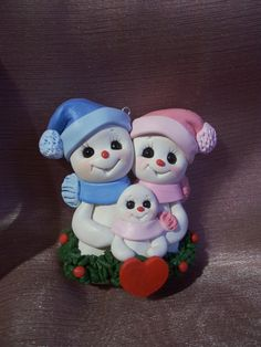 snowman family. Perfect mom & dad and son.