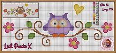 Cross Stitch Owl, Cross Stitch Bookmarks, Cross Stitch Animals, Cross Stitch Flowers, Cross Stitch Charts, Cross Stitch Designs, Cross Stitching, Cross Stitch Embroidery, Embroidery Patterns