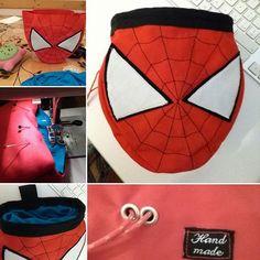 SpiderBag Spiderman chalkbag handmade by LaSte