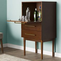 Langley Street Draper Bar with Wine Storage & Reviews | Wayfair