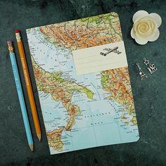 Reise-Geschenk REISETAGEBUCH Italien Bosnien Sizilien