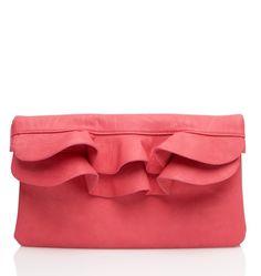 fun coral handbag