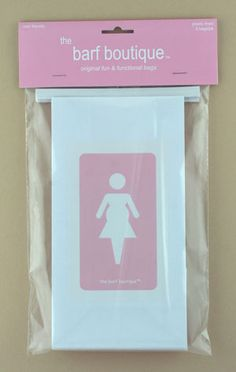 Cute barf bags from The Barf Boutique