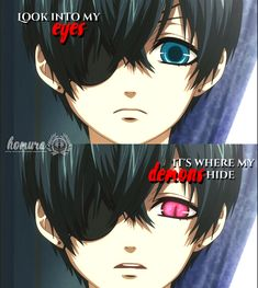 I cried so hard when he turned into a demon. Hanna needs to die... Anime: Black Butler