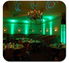 Awesome LED uplighting from my friend's mobile DJ company