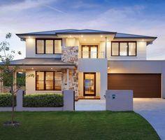 Huntingdale - Two Storey Home Design - Canberra Mcdonald Jones Homes, My Dream Home, Dream Homes, Storey Homes, Facade House, Layout, Exterior, House Design, Inspiration