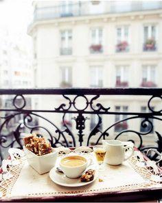 "Breakfast in Paris - image via Yvette Van Boven, - as seen in the collection ""Coffee Culture"" by linenandlavender.net"