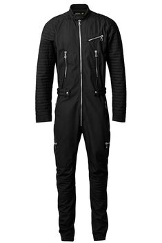 A roundup of the most over-the-top garments and accessories in the new Balmain x H&M collection, from a quilted overall with innumerable zippers, to a mini dress adorned with beads. Vogue Paris, Style Vintage Hommes, H&m Collaboration, Farm Clothes, Balmain Collection, Korean Fashion, Mens Fashion, Fashion Goth, High Fashion