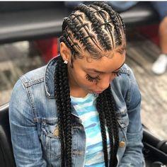 "Blackhair_FlairHAIR PROMO! (@blackhair_flair) on Instagram: ""@sandrasbraids parting game #hairinspiration #fauxlocs #locs #braids #twists #cornrows…"""