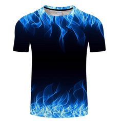 Blue Flaming tshirt Men Women T-Shirt t-shirt Black Tee Casual Top Anime Camiseta Streatwear Short Sleeve Tshirt Asian size ZOOTOP BEAR Blue Flaming Men Women t shirt t-shirt Black Tee Casual Short Men's Clothing T Shirt 3d, 3d T Shirts, T Shirts For Women, Dress Shirts, Shirt Men, Casual Tops, Casual Shirts, Tee Shirt Homme, Bleu Royal