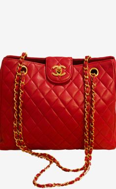 Chanel ~ Quilted Shoulder Bag, Red